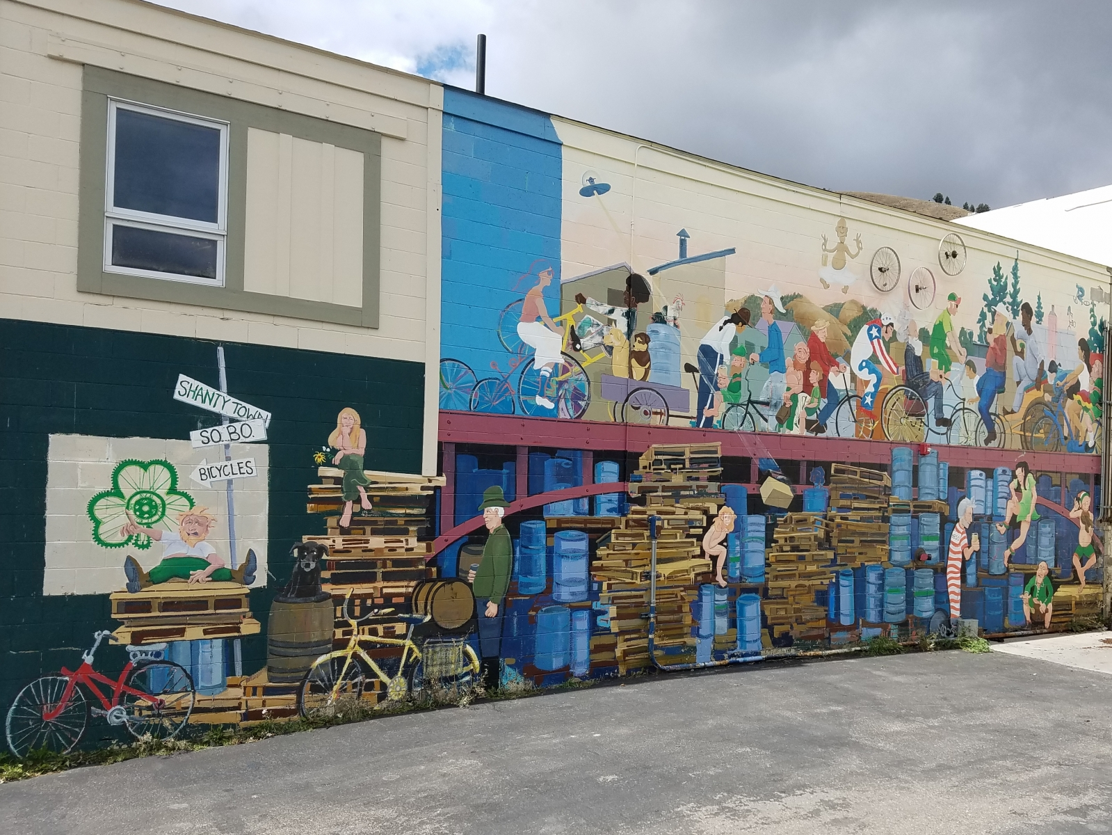 Bike mural out front