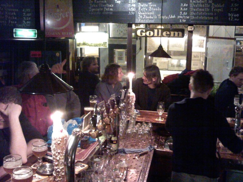 The best seat in the house: Café Gollem