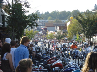 Fayetteville--Home of the Hog Haus--During Blues, Bikes & BBQ 2007