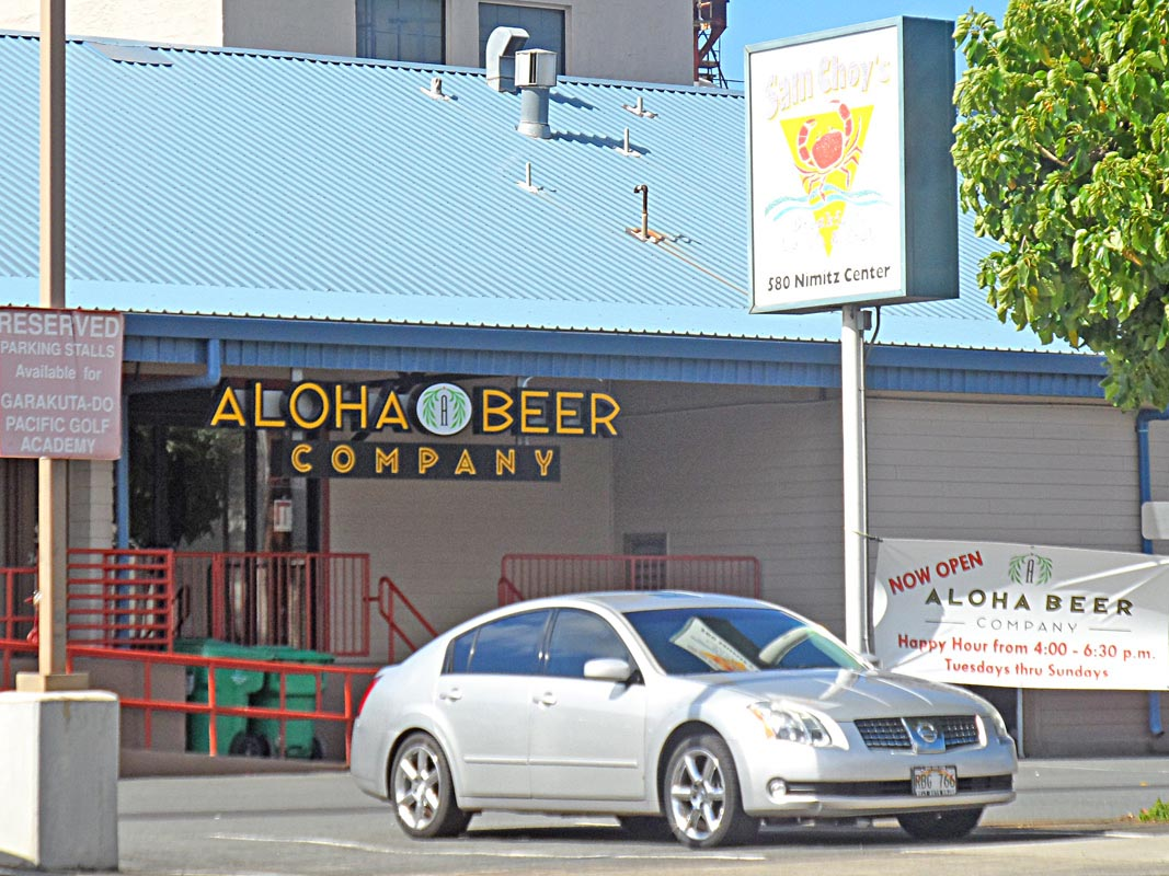 Aloha Beer next to Sam Choys BLC