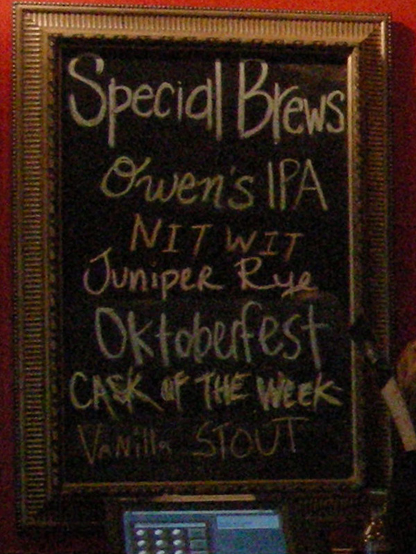 Special Taps - 10/07