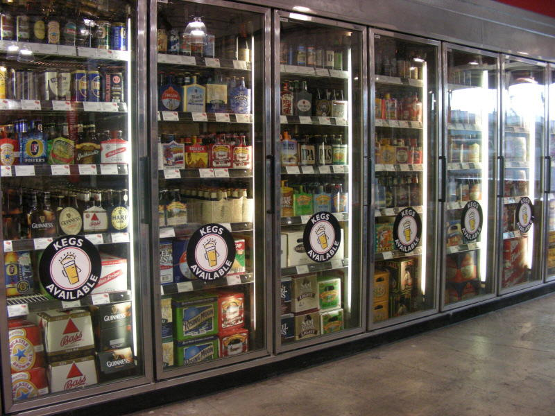 Craft brew cooler doors