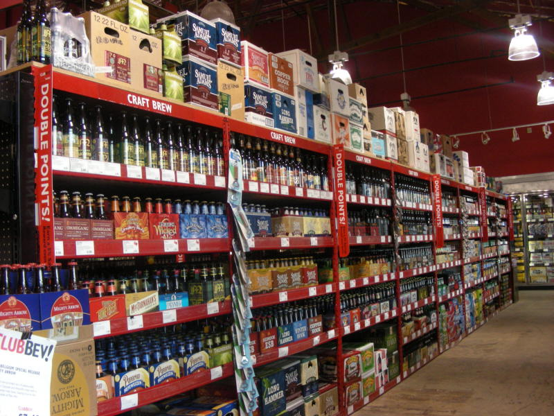 A craft brew aisle