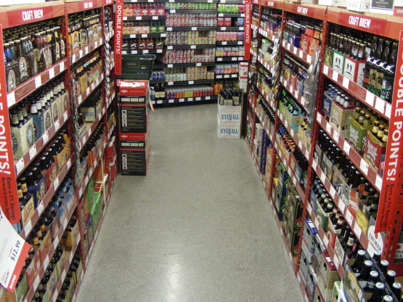Craft brew aisles
