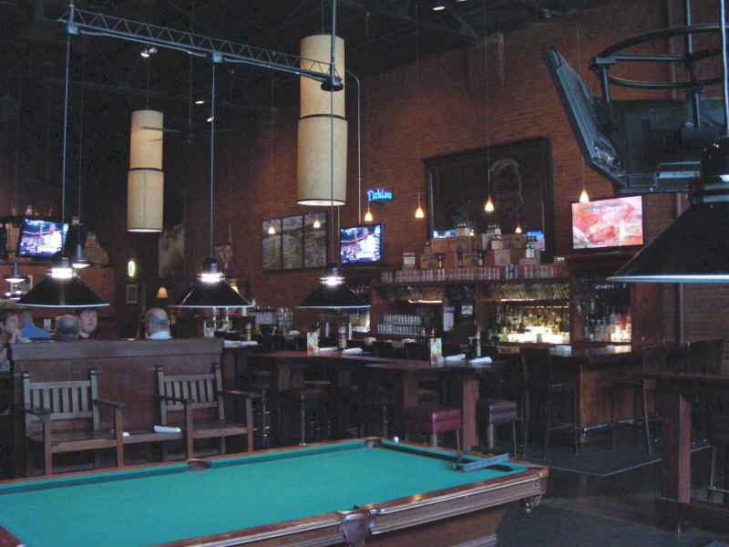 Pool hall and 2nd bar