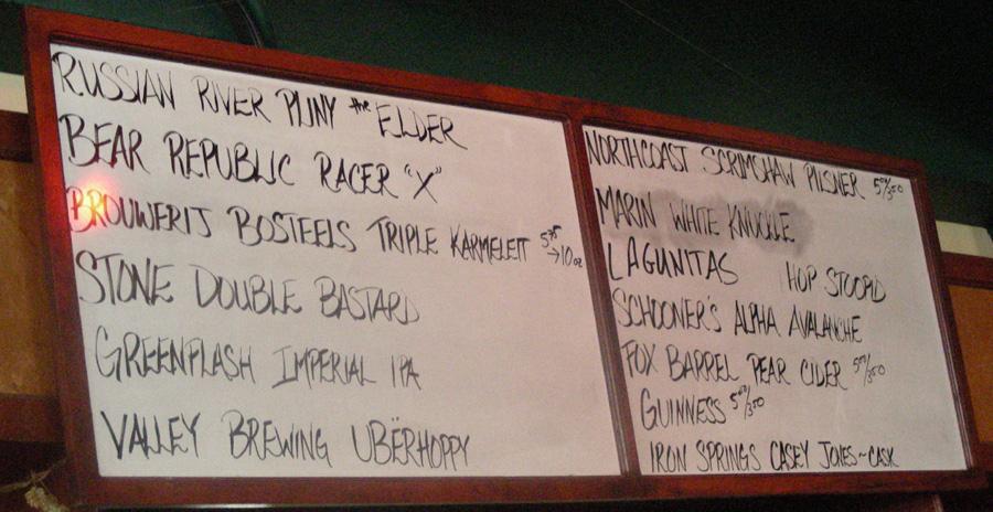 Tap List - 02/08