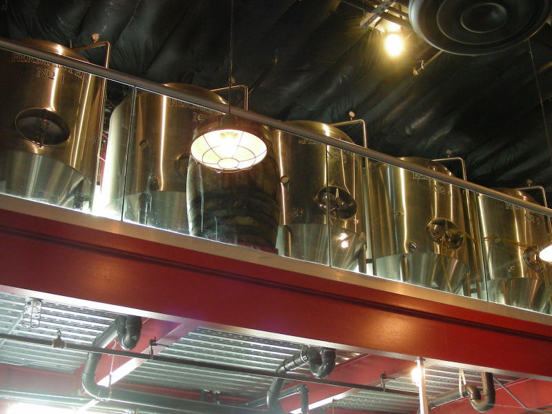 Fermenters overhead as well
