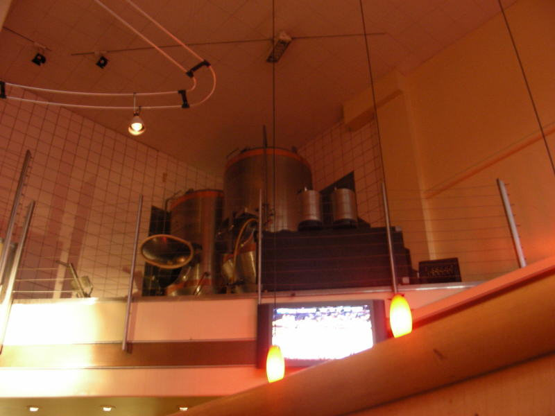 Tanks above the bar