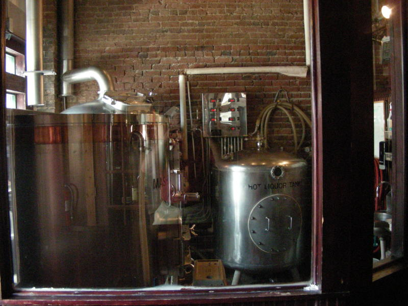 Brewing room near front