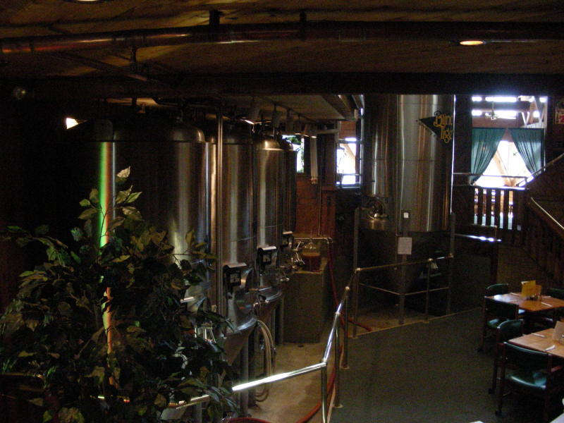 Fermenters in dining area