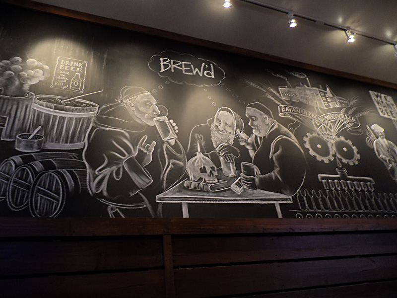 Beer history in chalk