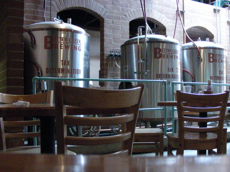 Fermenters between dining areas