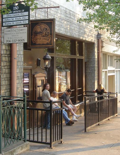 Copper Creek's Front Door and Patio