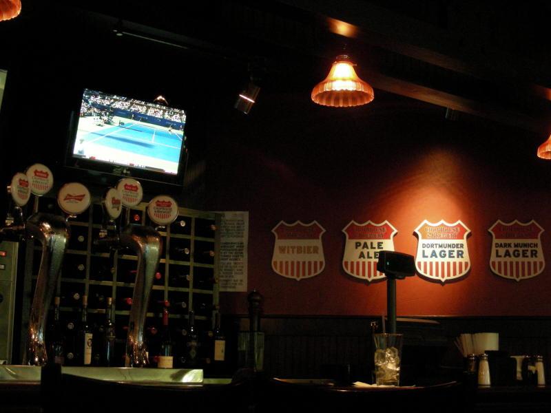 Taps at the bar