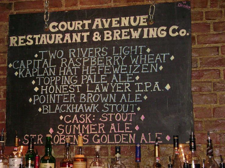 Court Avenue Tap List