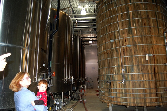 Dogfish Head Brewery Fermentation Tanks