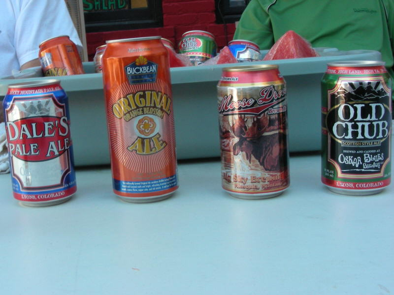 Some of the canned brews
