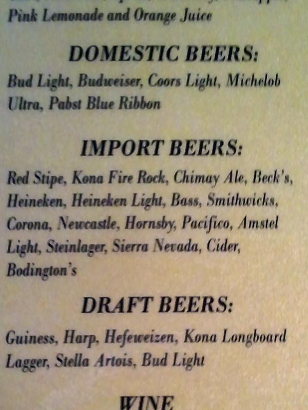 Beer Lists 01/12