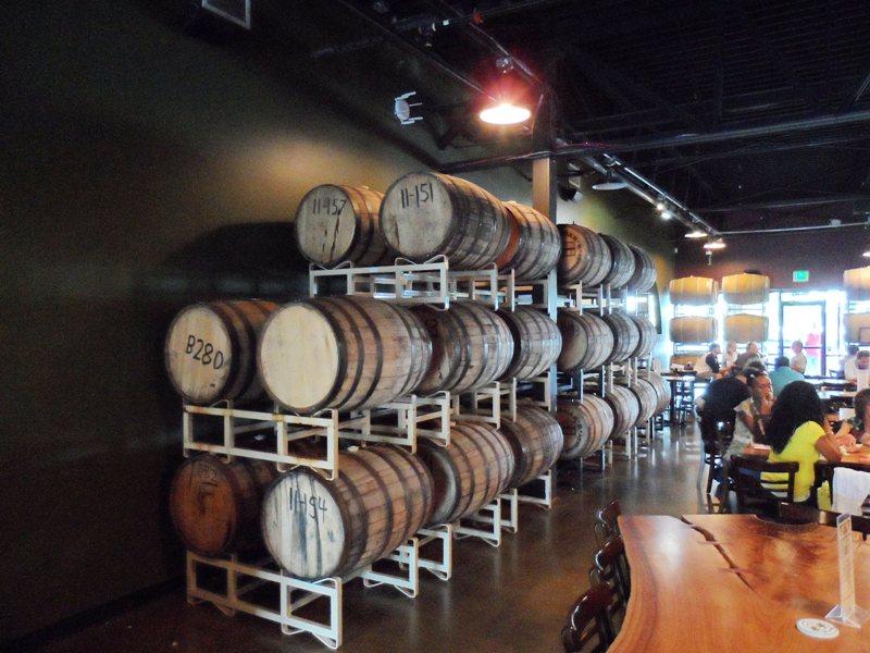 Barrels in back room