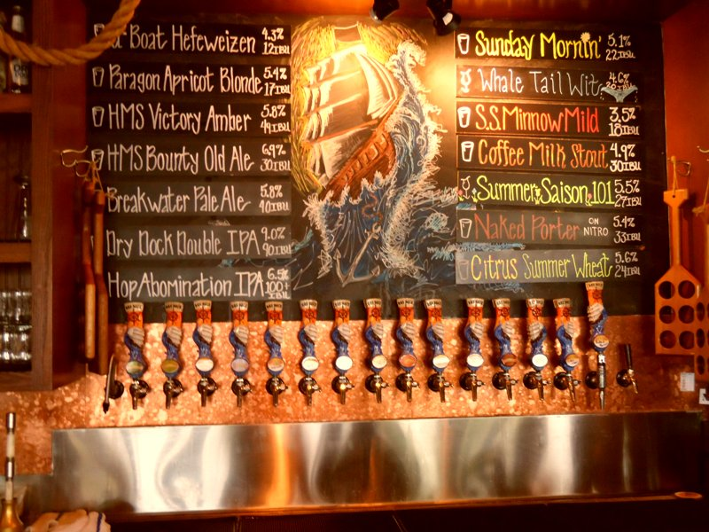 Taps and chalk board