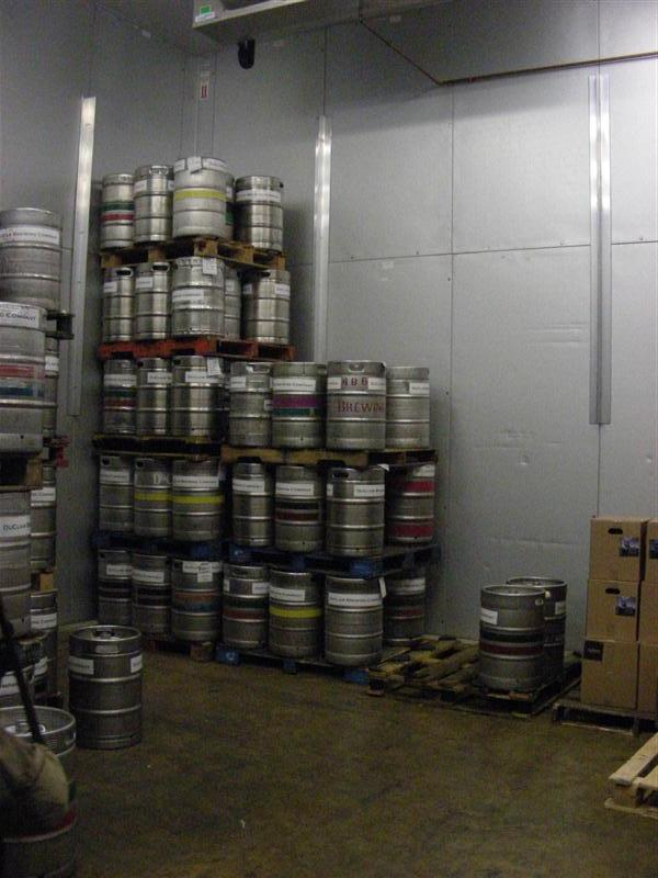 Special Kegs in cold storage