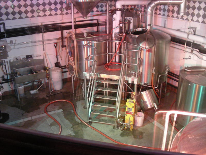 Brewing room under lights
