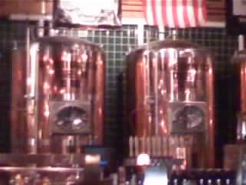 bright tanks behind the bar