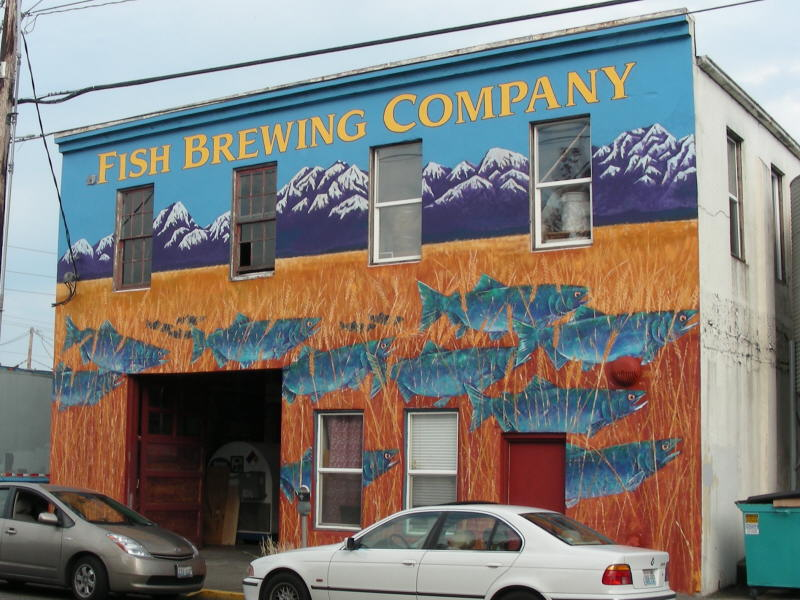 Fish brewery across the street