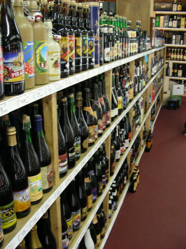 Part of the bottle selection