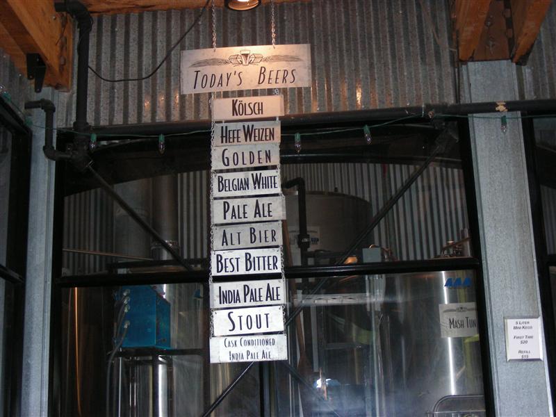 Tap List - July 2007