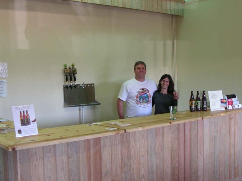 Tasting room and friendly owners