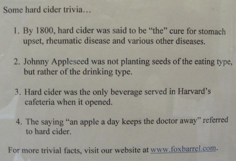 Hard Cider trivia