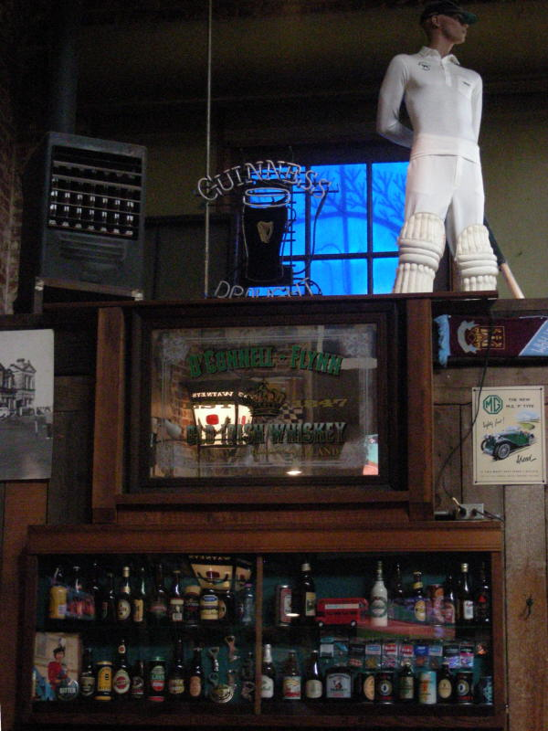 Bottles and sports decor