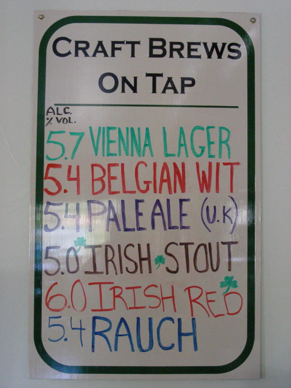 Tap List - 06/08