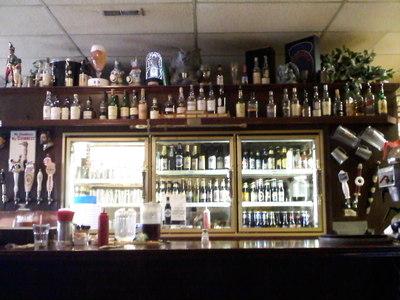 Hamilton back bar and bottle selection