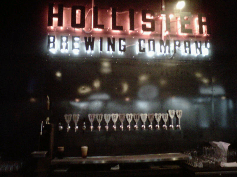 Hollister brewing taps