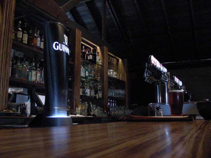 Bar and lighted taps