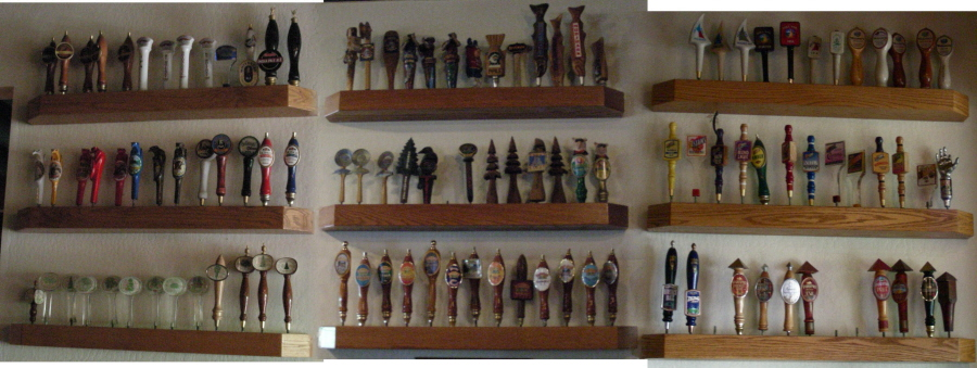 Tap handles waiting in the wings