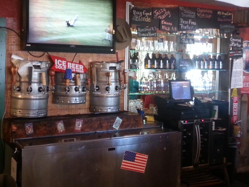 Taps behind bar