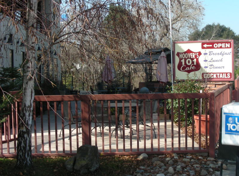 Sign and Patio BBQ