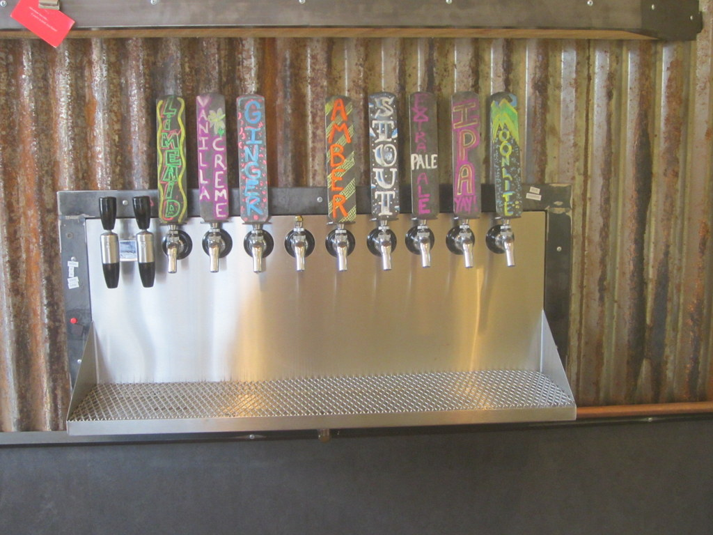 Taps with soda on left