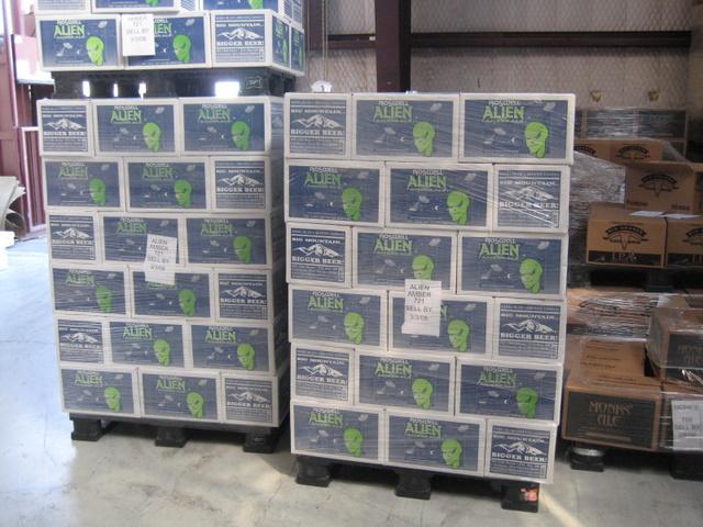 Cases of best selling beer