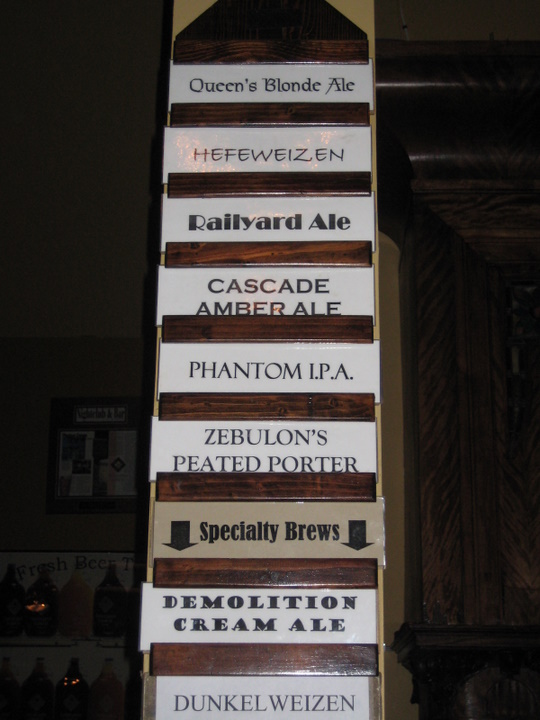 beer list that day, IPA always