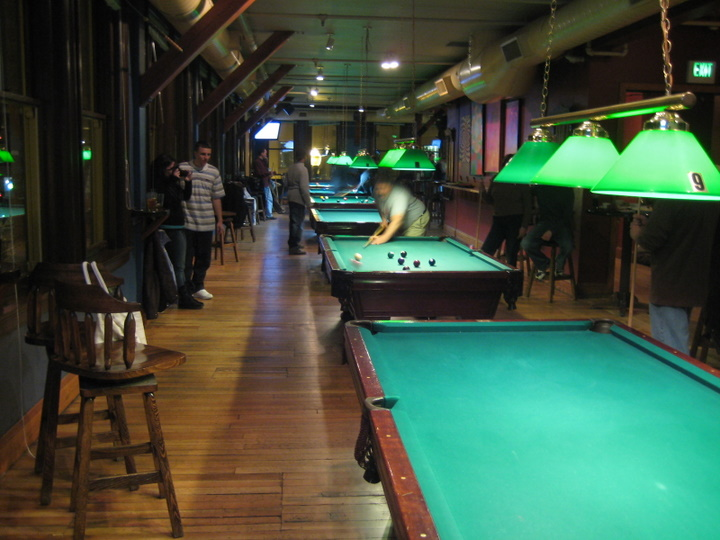 poor picture of pool room