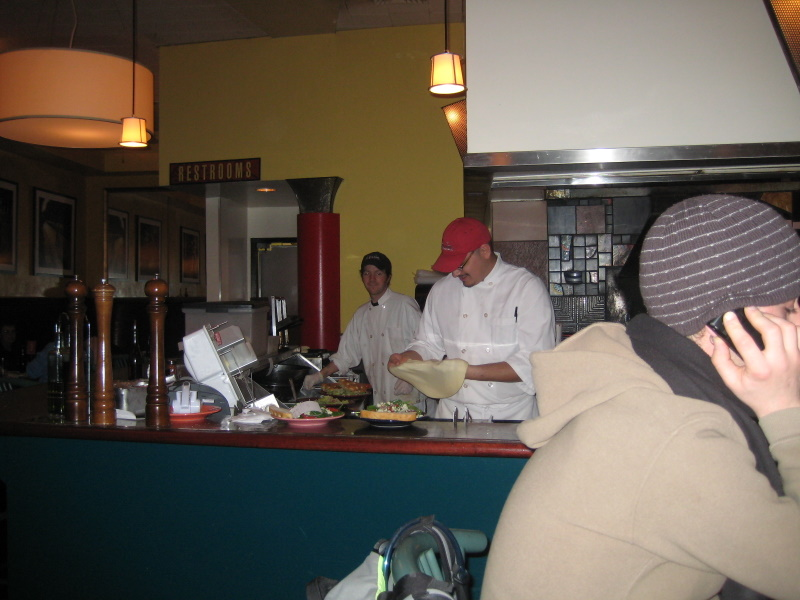 Pizza area, wood oven