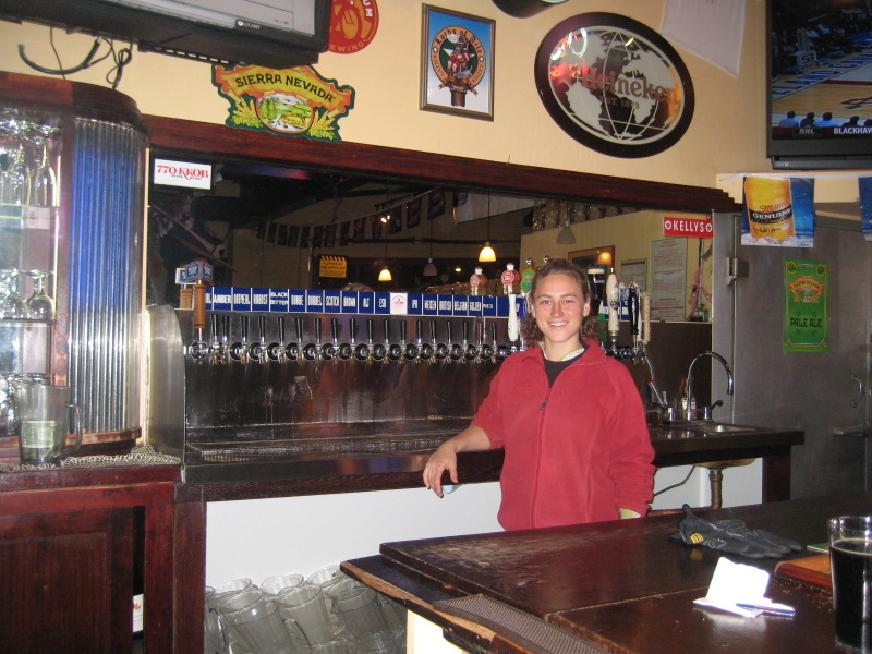 Brewer at taps by Mike Kiester