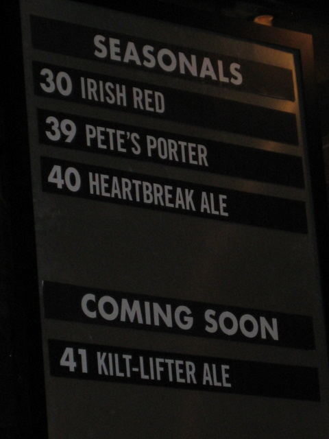 The Kilt Lifter is number 41, on tap April 5,08 by Mike Kiester