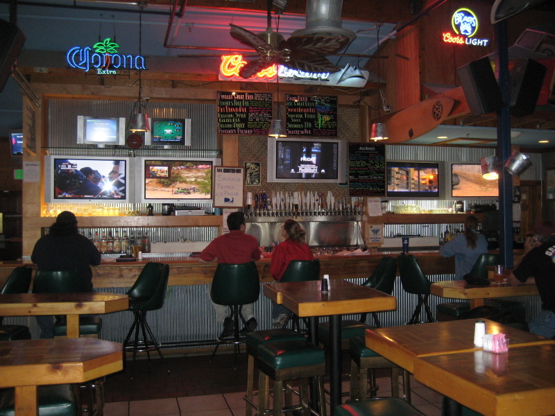 Main bar with most of TVs