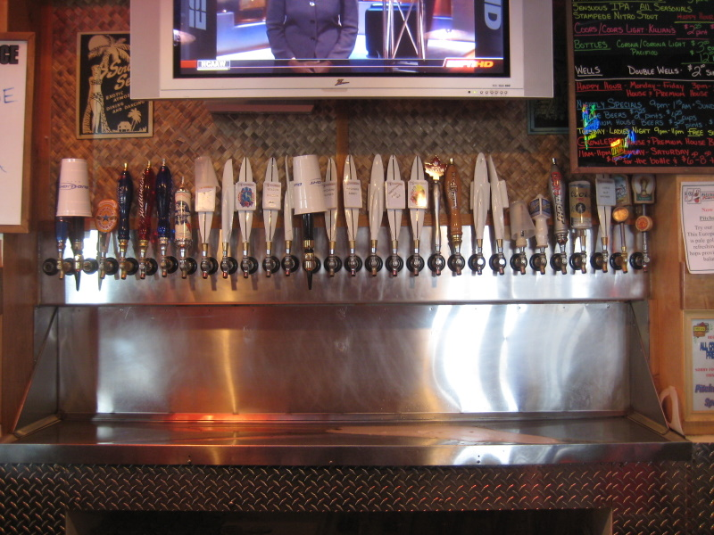 taps, some not available