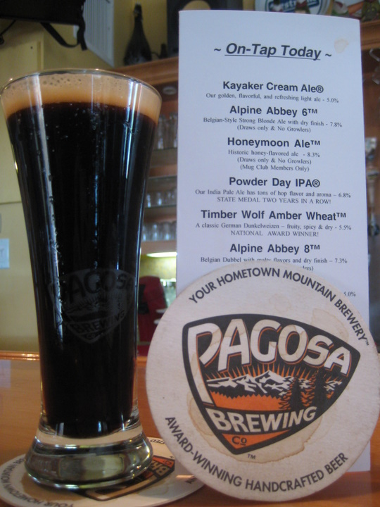 Beer list and Coconut Porter